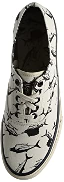 Cloud Fish Print CVO Sneaker: White