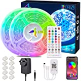 24M/78.7Ft BluetoothLed Strip Light,ALED LIGHT Music Sync Flexible Color Changing RGB 5050 12V Rope Light Strips Kit with IR