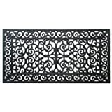 "A1 Home Collections First Impression Audie Modern Indoor/Outdoor 23.62"" L x 47.25"" W Easy Clean Rubber Entry Way Doormat for"