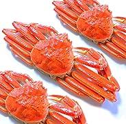 黒帯 ズワイガニ 姿 特大 ボイル ずわいがに姿 天然 本ずわい蟹 良品選別加工済 ブランド保証付 (1.8kgUP:600g×3尾入 かに ギフト)