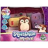 "Squishville by Squishmallows Mini Plush Room Accessory Set, Kitchen, 2"" Soft Mini-Squishmallow and 2 Plush Accessories, Marsh"