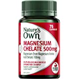 Nature's Own Magnesium Chelate 500mg - Supports Muscle Function when Dietary Intake is Inadequate, 75 Tablets