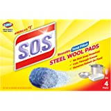 S.O.S. Steel Wool Soap Pads, 4 Count