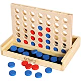 Toys of Wood Oxford Wooden 4 In A Row Game - Classic Strategy Game For Adults Children-Connect 4 Discs Of Same Colour In A Ro