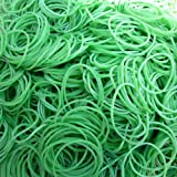 Hamosky Rubber Band Paper Bills Dollars Money Elastic Stretchable Bands 500Pcs,Size 38mm /1.49 Inches (Green)