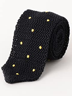 Dot Silk Knit Tie 3134-343-2388: Yellow