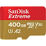 Sandisk Extreme 400GB microSD UHS-I Card with Adapter - 160MB/s U3 A2 - SDSQXA1-400G-GN6MA, Black