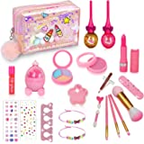 SunnyMemory Real Kids Makeup kit for Girls, 22PCS Non-Toxic Washable Kids Makeup Toy Set for Princess Little Girls Toddlers f