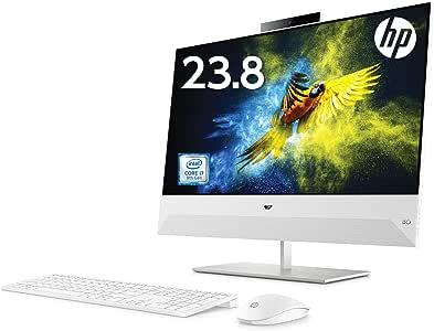HP 液晶一体型 デスクトップパソコン インテルCore i7 16GB 256GB SSD+2TB ハードドライブ 23.8 インチ タッチ対応 フルHD ディスプレイ NVIDIA GeForce GTX 1050 グラフィックス搭載 Windows10 HP Pavilion All-in-One 24 Microsoft Office付き (型番:6DU74AA-AABB)