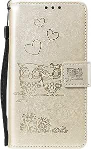 iPhone X/iPhone XS 手帳型 ケース, Zeebox® 可愛い 綺麗 レディース用 財布型 ケース, カード収納 スタンド 機能 ストラップ付き スタンド機能 マグネット開閉式, 金