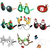 Ocean Line Novelty Christmas Glasses - 8 Pack Creative Funny Eyewear, Happy New Year Celebration, Holiday Costume Party Suppl