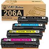 CMYBabee Compatible Toner Cartridge Replacement for HP 206A W2110A W2111A W2112A W2113A for HP Color LaserJet Pro M255dw MFP