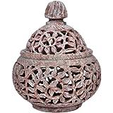 Hashcart Traditional Tea Light Candle Holder/Soapstone Candle Light Holder Set/Designer Votive Candle Holder Stand/Table Deco