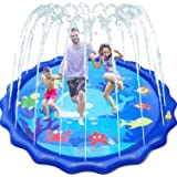 """GiftInTheBox Sprinkler &Splash Pad for Kids, 68"""" Splash Play Mat Water Toy for Toddlers , Outdoor Water Mat Toys, Baby Infant"""