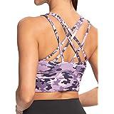 IOJBKI Sports Bras for Women Padded Strappy Sports Bra Medium Support Workout Running Yoga Bra
