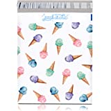 """Pack It Chic - 10"""" X 13"""" (100 Pack) Ice Cream Poly Mailer Envelope Plastic Custom Mailing & Shipping Bags - Self Seal (More D"""