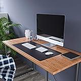 Uncrowned Kings Desk Pad - 35.4 X 17.7 Inches Premium Home Office Desk Mat Protector For Wooden/Glass Desktops - Black Vegan