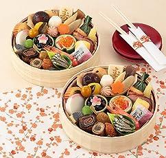 (12月30日着) 京菜味のむら おせち「花籠二段」 31品 (二人前)