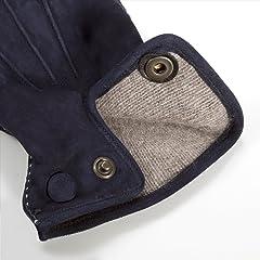 Goat Suede Gloves: Navy