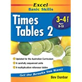 Excel Basic Skills Workbook: Times Tables 2 Years 3-4
