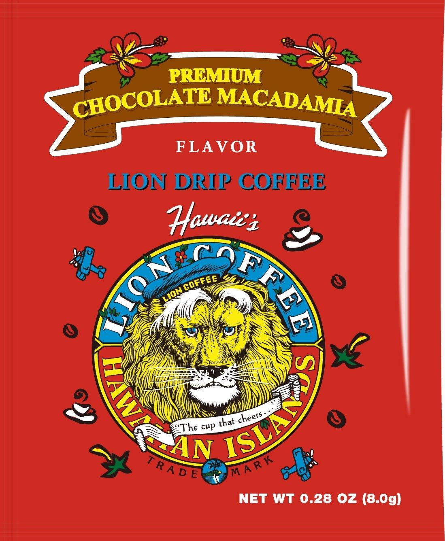 ライオンコーヒー プレミアムチョコレートマカダミア 袋 (8gx10p) 80g
