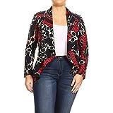 Fashion Stream Women's Plus Size Printed Tunic Dress Shirt Top Made in USA