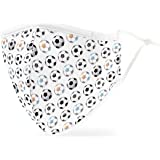 Weddingstar Washable Cloth Face Mask Reusable and Adjustable Protective Fabric Face Cover w/Dust Filter Pocket - Soccer