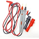 Multimeter Test Leads with Alligator Clips - Sharp Gold Plated Multimeter Leads - Needle Point Electrical Test Probe 20A 1000