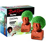 Chia Pet Bob Ross with Seed Pack, Decorative Pottery Planter, Easy to Do and Fun to Grow, Novelty Gift, Perfect for Any Occas