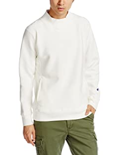 Reverse Weave Mock Neck Sweat Shirt 112-05-0026: Off White