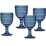 Godinger Silver Art Lumina Blue Set 4 Goblet