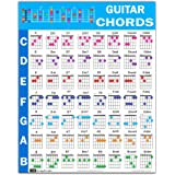 "Guitar Chord Poster (24""x30""), Educational Reference Guide for Beginner, 56 Color Coded Chords from Popular Progressions, Mad"
