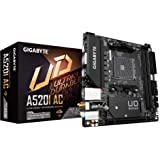Gigabyte A520I AC (AMD Ryzen AM4/Mini-ITX/Direct 6 Phases Digital PWM with 55A DrMOS/Gaming GbE LAN/Intel WiFi+Bluetooth/NVMe