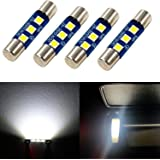 Alla Lighting 4pcs Extremely Super Bright 6000K Xenon White High Power 3030 SMD 29mm 6614 6614F 6641 6612F F30-WHP TS-14V1CP