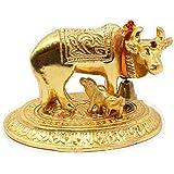 Gau mata Gold, holy cow and calf, cow & calf Gold,Gold Imitate,Kamadhenu ashtadhatu, ashtadhatu statue,Home décor, cow and ca