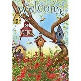 "Toland Home Garden 102097 Poppies & Birdhouses 28 x 40 Inch Decorative, House Flag-28"" x 40"""