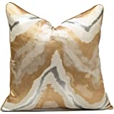 Gold Decorative Throw Pillow Covers,18x18, Modern, Stylish,Unique,Decorative Cover Pillow Covers for Couch,Sofa,Bed,Home Deco
