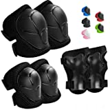 Wemfg Kids Protective Gear Set Knee Pads for Kids 2-8 Years Toddler Knee and Elbow Pads with Wrist Guards 3 in 1 for Skating