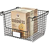 InterDesign Classico Stackable Storage Basket with Handles for Pantry, Kitchen, Bathroom, Countertop, and Desk Organization 1