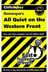 CliffsNotes on Remarque's All Quiet on the Western Front (Cliffsnotes Literature Guides) Kindle Edition