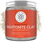 Pure Bentonite Powder for DIY Detox Bath & Facial Mask, Pure Indian Healing Clay for Burns, Mastitis, Inflamed or Chapped Ski