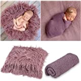 Aniwon 2Pcs Baby Photo Props Long Ripple Wraps DIY Blanket Outfits Newborn Wraps Photography Mat for Baby Boys and Girls