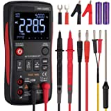 True RMS Digital Multimeter 9999 Counts Button Design Autoranging AC DC Current Voltage Meter 3-Line Display with Analog Barg
