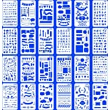 (Stencil-Classic) - 24 PCS Bullet Notebook Journal Stencil Plastic Planner Set for Journaling Suppies/Diary/Scrapbook DIY Dra