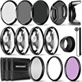 Neewer 77MM Lens Filter and Accessory Kit: UV CPL FLD Filters, Macro Close Up Filter Set(+1 +2 +4 +10), ND2 ND4 ND8 Filters,