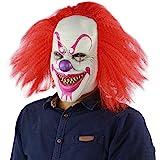 xiao chou ri ji Scary Sinister Halloween Clown Masks, Costume Cosplay Props, Adult Latex Clown Masks,Horror,Devil