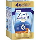 Aptamil Gold+ 3 Toddler Milk Drink Powder Sachets From 1 Year 4 Pack, 155.2 g