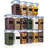 Airtight Food Storage Containers with Lids 16pcs Set 2L/1.8qt, PantryStar Air Tight Flour Sugar and Cereal Containers, Kitche