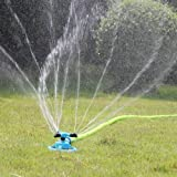 Lawn Sprinkler Kadaon Automatic Garden Water Sprinklers Lawn Irrigation System 3600 Square Feet Coverage Rotation 360