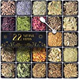 Dried Herbs for Witchcraft, TigeJoy 22 Pack Magic Herbs Kit for Spells, Dried Flowers Witch Stuff Wiccan Supplies and Tools,